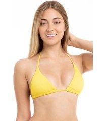 bikini triangulo con textura amarillo samia