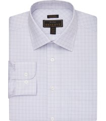 jos. a. bank men's reserve collection traditional fit spread collar tattersall dress shirt - big & tall clearance, purple, 18x34 big
