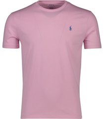 ralph lauren t-shirt roze custom slim fit