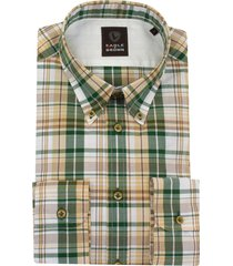 eagle & brown overhemd casual ruit groen