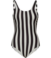 swimsuit rana big stripes baddräkt badkläder vit dedicated