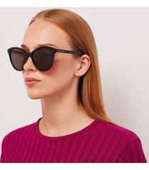 saint laurent women's cat eye aceteate sunglasses - black