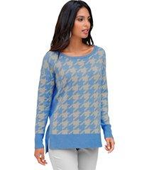 trui amy vermont beige::lichtblauw