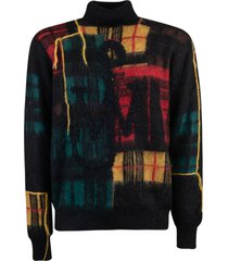 j.w. anderson patchwork turtleneck sweater