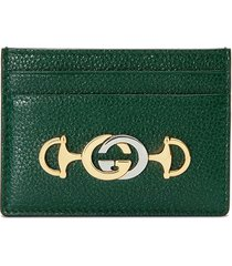 gucci gucci zumi card case - green