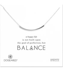 dogeared balance tube necklace silver stone