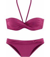 bikini lascana variokini paarse 2-delige bandeau bikiniset