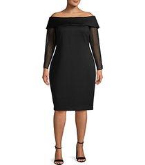 plus off-the-shoulder sheath dress