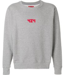 424 logo print sweatshirt - grey