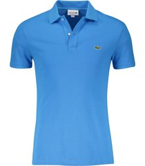 lacoste blauw poloshirt slim fit