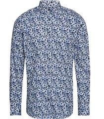 aop cotton shirt l/s skjorta business blå lindbergh