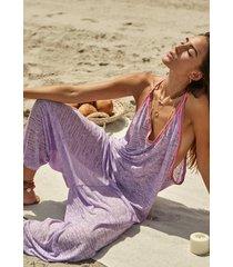 pitusa inca jumpsuit lavender