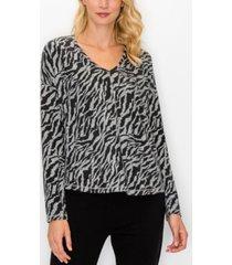 women's cozy v-neck dolman sweatshirt