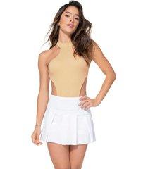 falda poliéster talla única-2 blanco básico