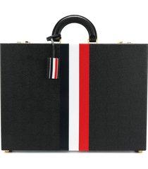 thom browne attache case with red, white and blue calf stripe in