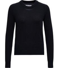 maison margiela black wool sweater