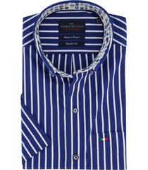 korte mouw overhemd portofino donkerblauw