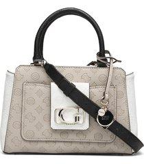 emilia status satchel bags top handle bags crème guess