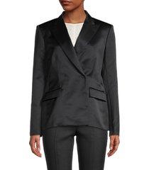 giambattista valli women's satin blazer - black - size 42 (8)