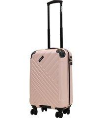 maleta dura toledo s 8 ruedas rosado head