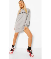 los angeles sweater jurk met korte rits, grey marl