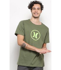 camiseta hurley silk circle icon masculina