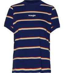 80´s regular tee t-shirts & tops short-sleeved blå wrangler