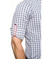 koszula bexley 2020 długi rękaw slim fit granatowy