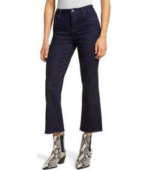 women's 1822 denim re: denim high waist frayed crop bootcut jeans, size 27 - blue