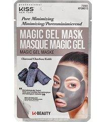 máscara facial kiss new york - magic gel mask carvão - 1 unid.