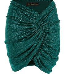 alexandre vauthier ruched mini skirt - black
