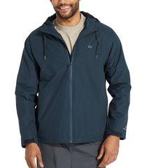 wolverine men's i-90 rain jacket navy, size l