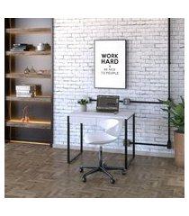 mesa de escritório kuadra 2 gv branca 90 cm