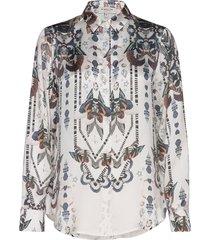 alicia blouse blus långärmad vit by malina