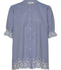 craig shirt kortärmad skjorta blå modström