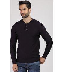 suéter masculino em tricô gola portuguesa vinho