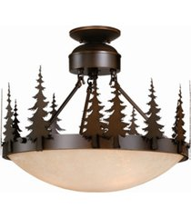 vaxcel yosemite amber glass rustic tree semi-flush mount light or pendant