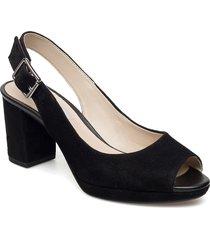 kelda spring shoes summer shoes heeled sandals svart clarks