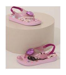 chinelo ipanema infantil jolie com elástico lilás