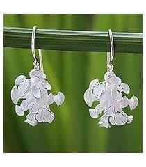sterling silver dangle earrings, 'magic mushroom' (thailand)