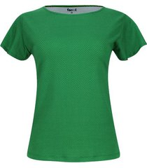 camiseta m/c estampado puntos color verde, talla xs
