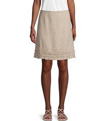 ruffled linen skirt