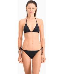 puma swim side-tie bikinibroekje voor dames, zwart, maat l