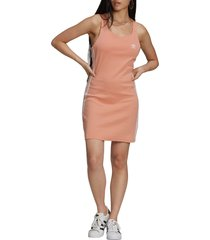 women's adidas originals racerback dress, size large - pink