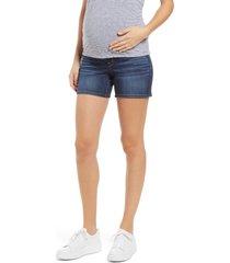 1822 denim belly band denim maternity shorts, size 28 in ziggy at nordstrom