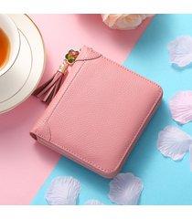 porta carte zuoerdanni tassel 40 porta carte vera pelle portafogli portatili con cerniera