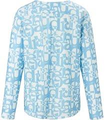 pyjama van 100% katoen met letterprint van féraud blauw
