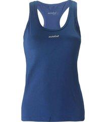 camiseta básica, con aplique reflectivo color azul oscuro para mujer