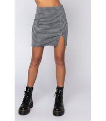 akira simply a lady mini skirt with slit