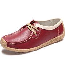 scarpe piatte casual in cuoio